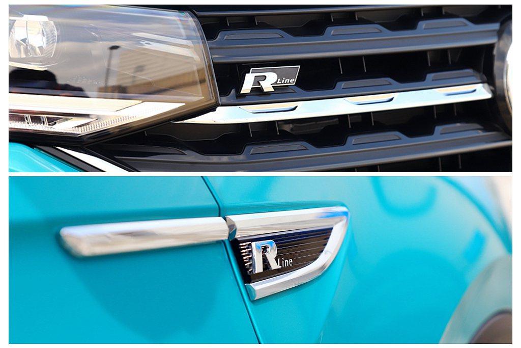 R-Line專屬徽飾位於車頭前氣壩與左/右葉子板等處。 記者張振群/攝影