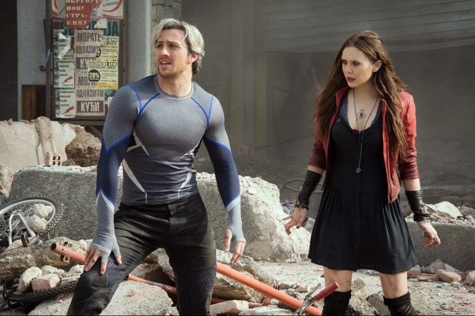 艾倫泰勒強森曾在漫威大片「復仇者聯盟2:奧創紀元」飾演超級英雄「快銀」。圖/摘自...