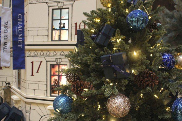 台北101購物中心「耶誕驚喜倒數月曆小屋」。圖/台北101提供