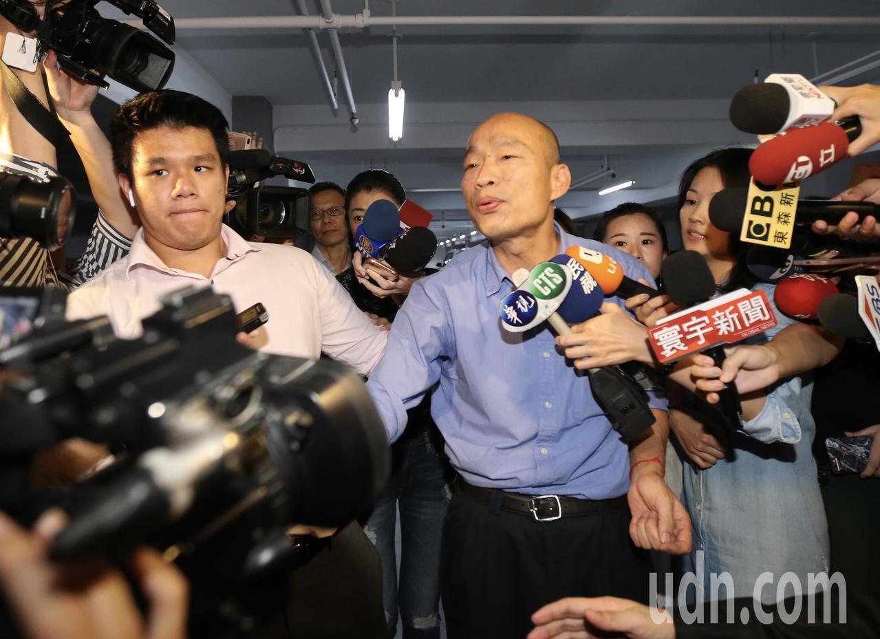 國民黨總統候選人韓國瑜。本報資料照