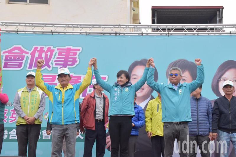 邱議瑩今早成立大社後援會。記者王昭月/攝影