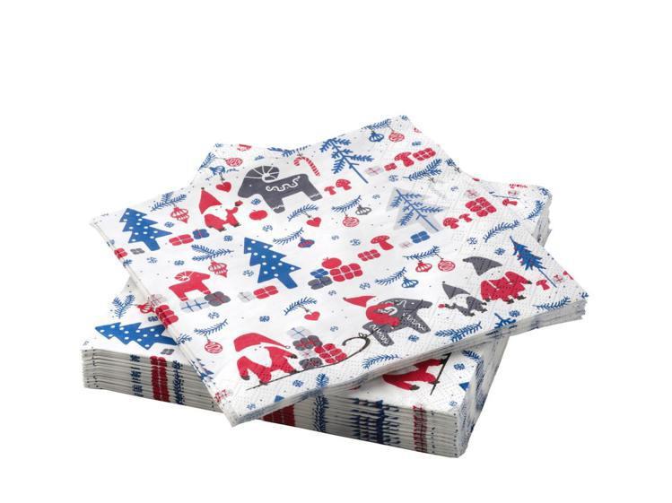IKEA VINTERFEST餐巾紙,售價79元。圖/IKEA提供