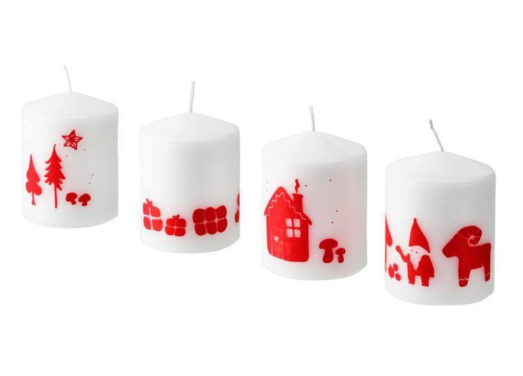 IKEA VINTERFEST柱狀蠟燭,售價179元。圖/IKEA提供