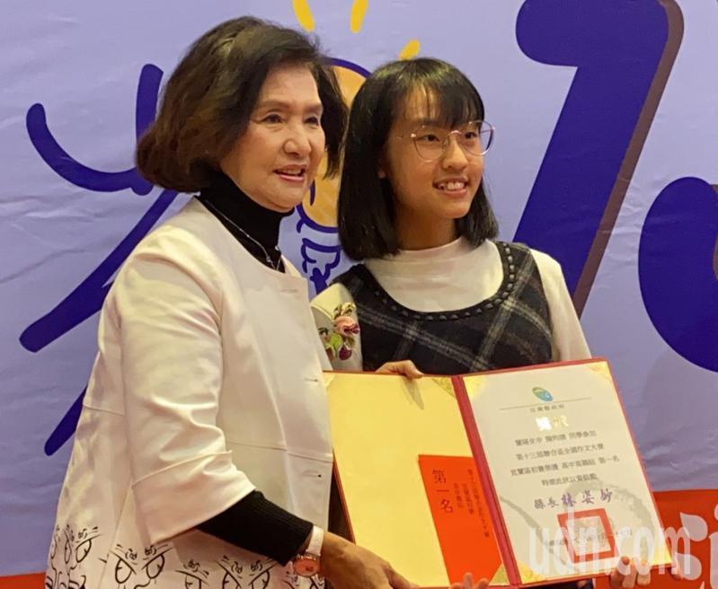 高中高中職組第一名是蘭陽女中陳昀靖。記者羅建旺/攝影