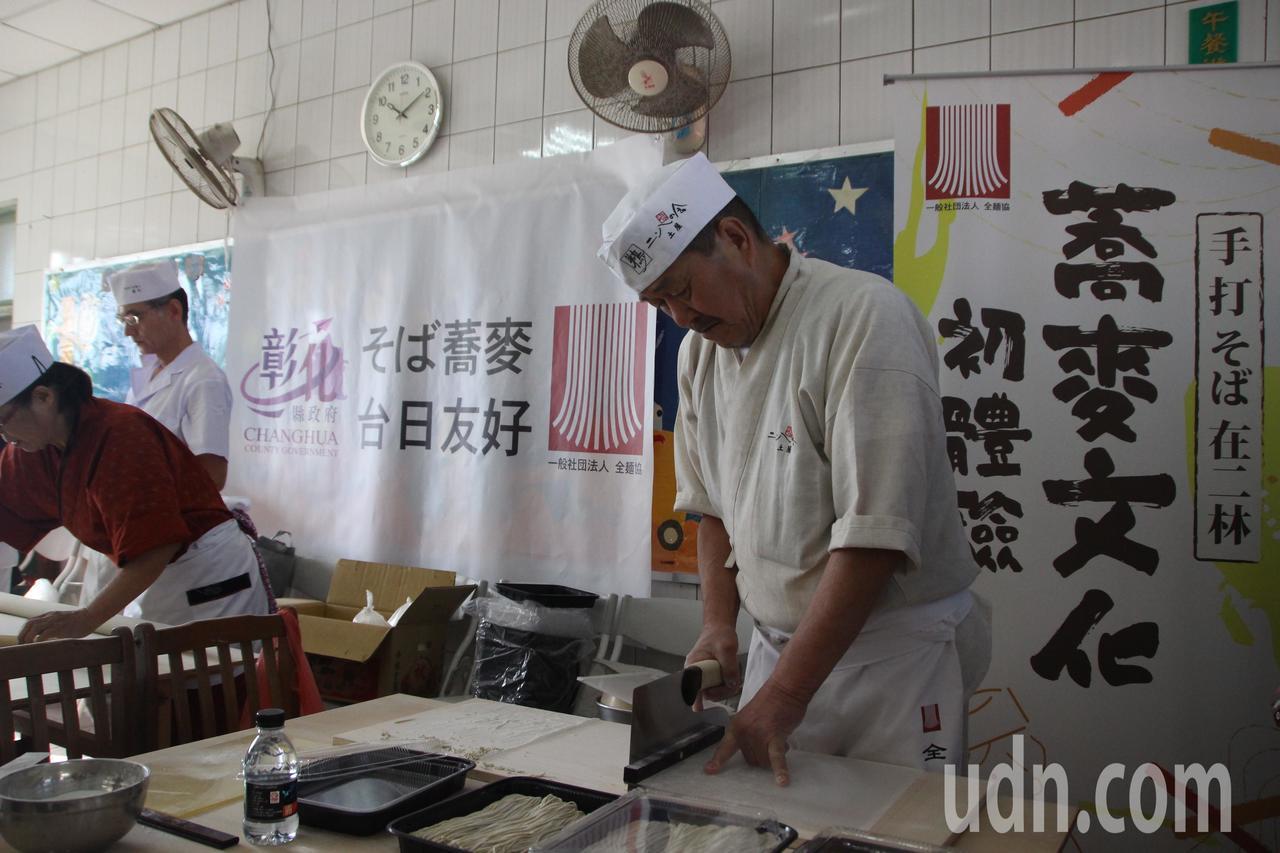 日本全麵協長期推廣蕎麥麵,看好二林是蕎麥產區,多次舉行推廣活動。記者林敬家/攝影