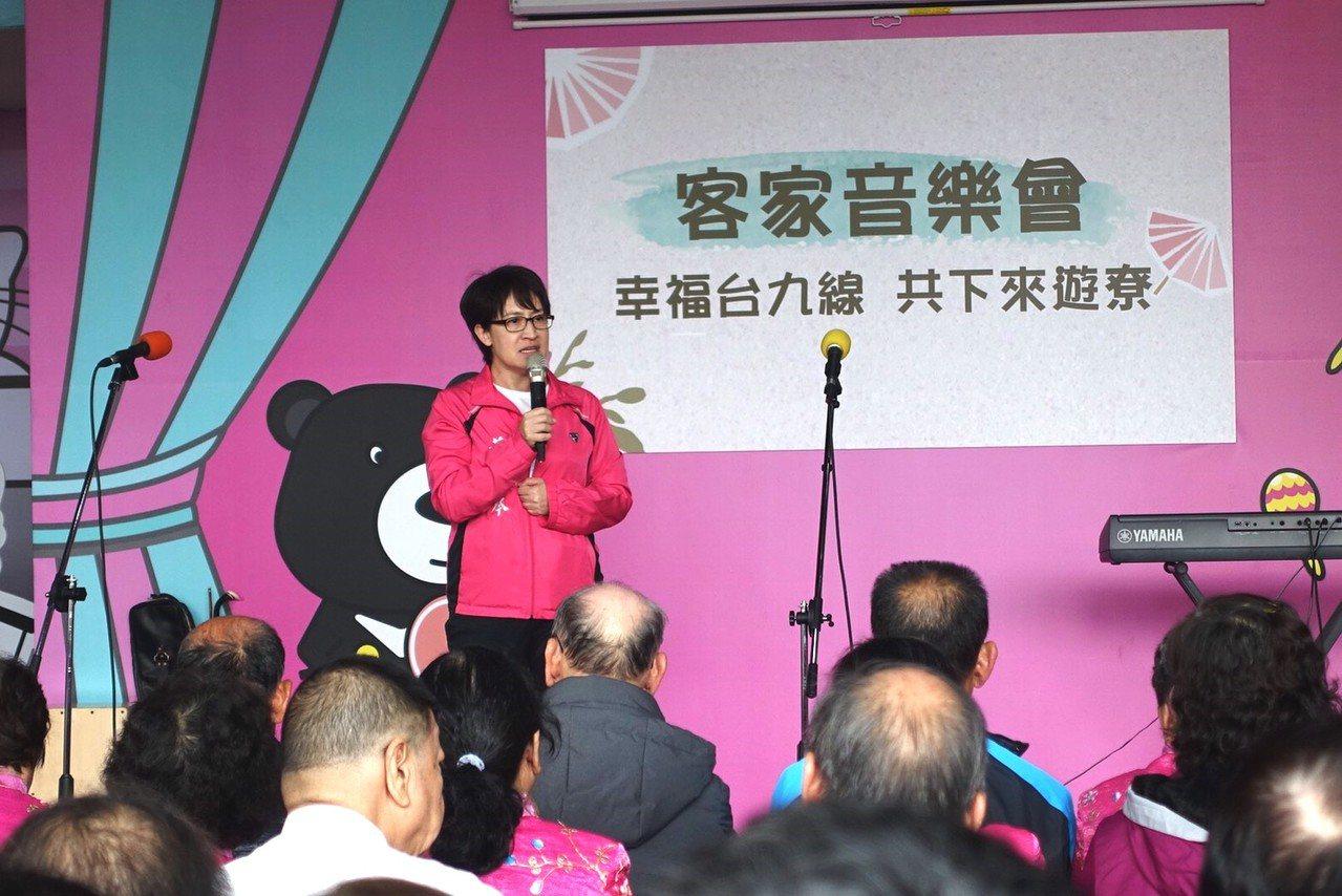 花蓮民進黨立委參選人蕭美琴瞄準客家票源,今天舉辦客家音樂會,也說明在立院為客家族...