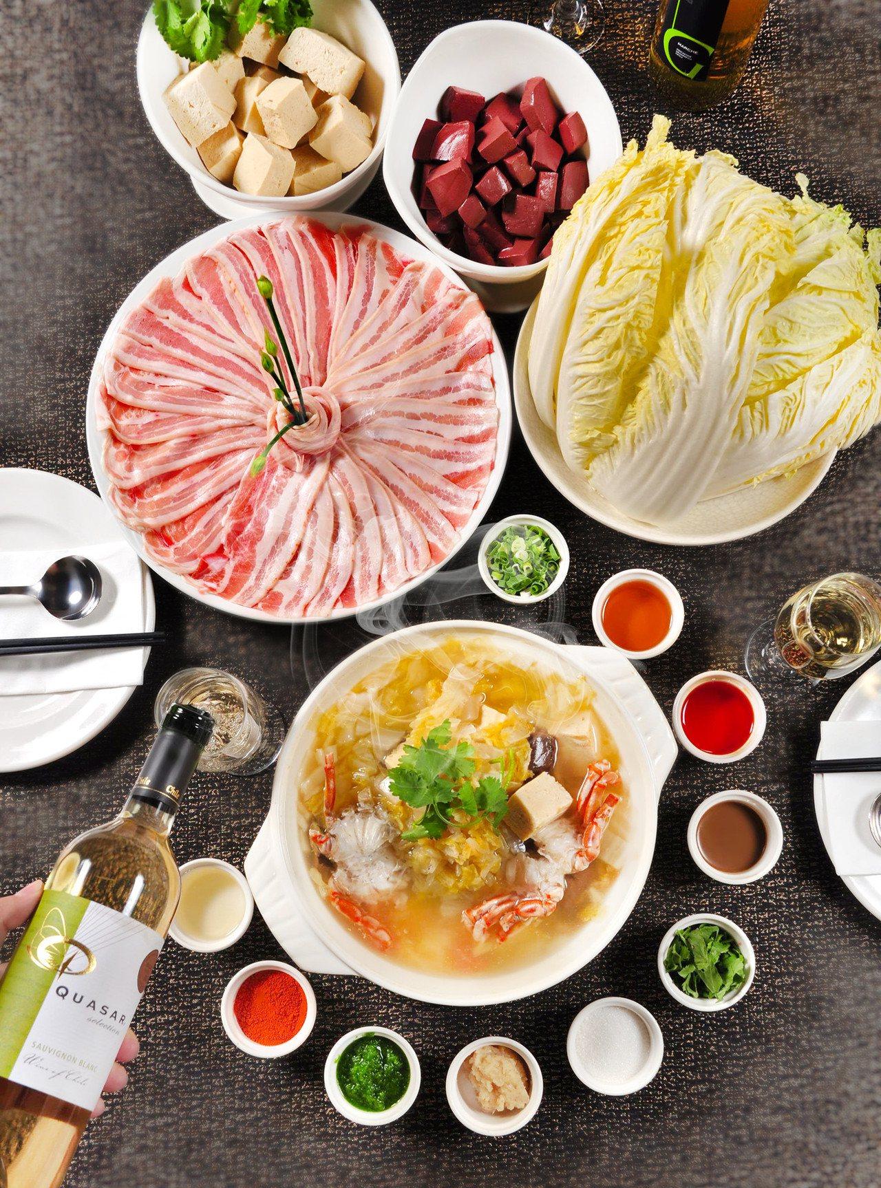 酸菜白肉鍋酒食新搭法。圖/台北凱撒提供
