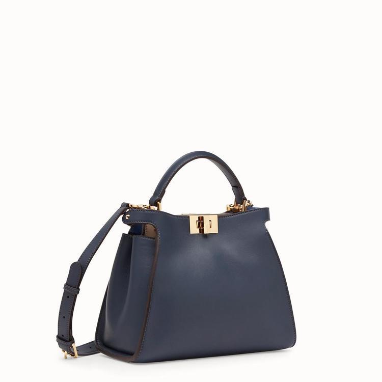 FENDI Peekaboo Essentially藍色皮革手袋,售價港幣31,...