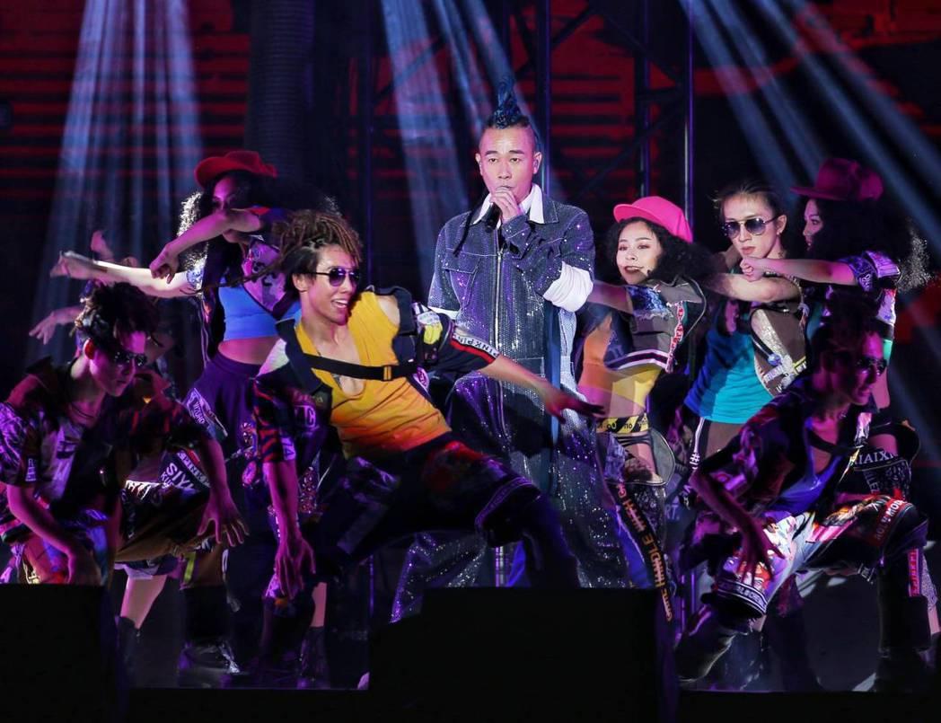 陳小春今晚於林口開唱。記者曾原信/攝影