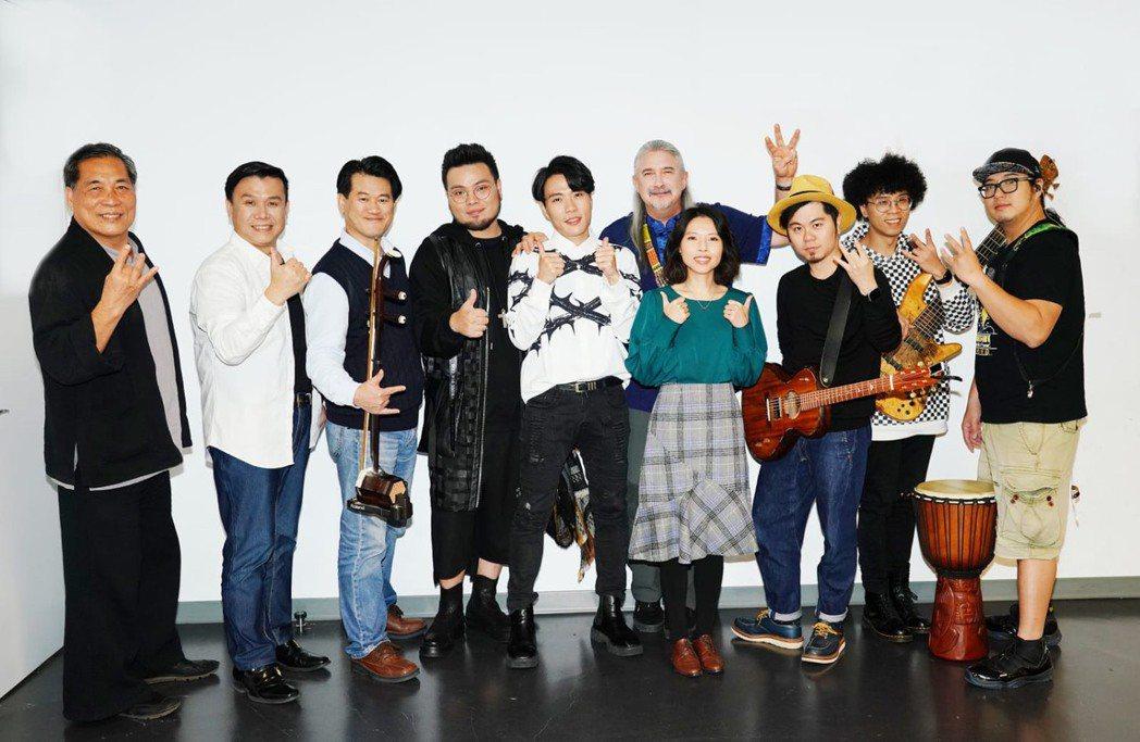 賴仁政(左起)、黃殷鐘、周以謙、VOX玩聲樂團、馬修連恩、曾雅君、黃子軒與山平快