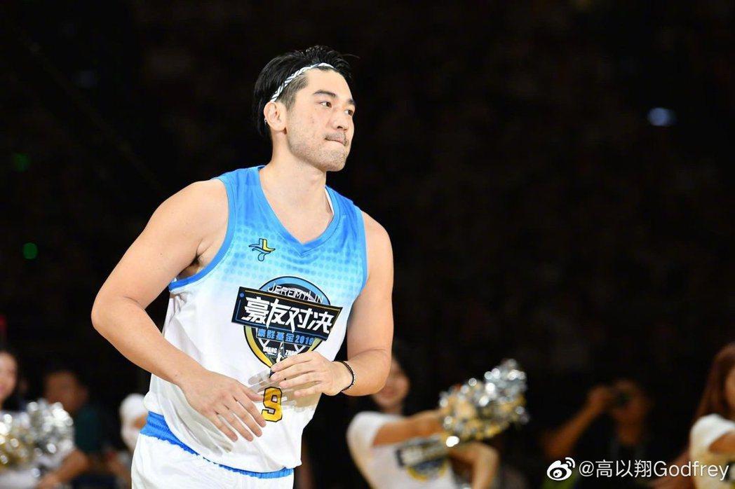 高以翔生前很喜歡打籃球。圖/摘自微博