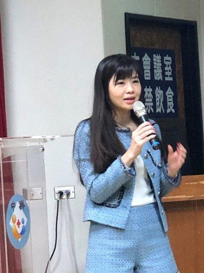 滙豐銀行工商金融業務處副總裁藍珮瑜。 台灣長照醫學會/提供