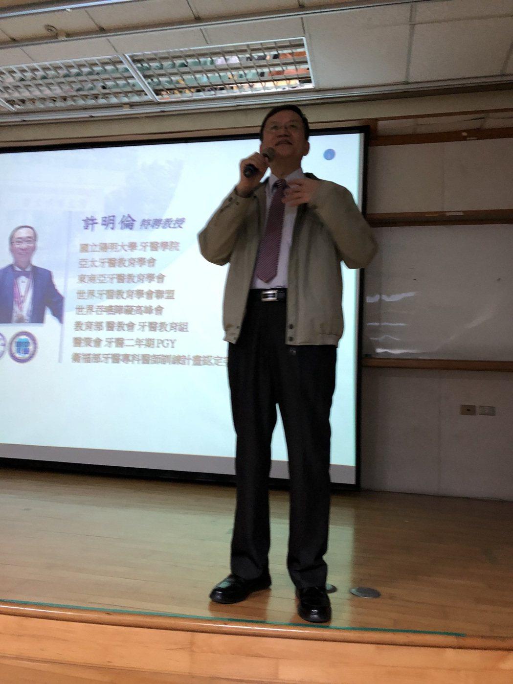 中國時報副總編郭石城。 台灣長照醫學會/提供