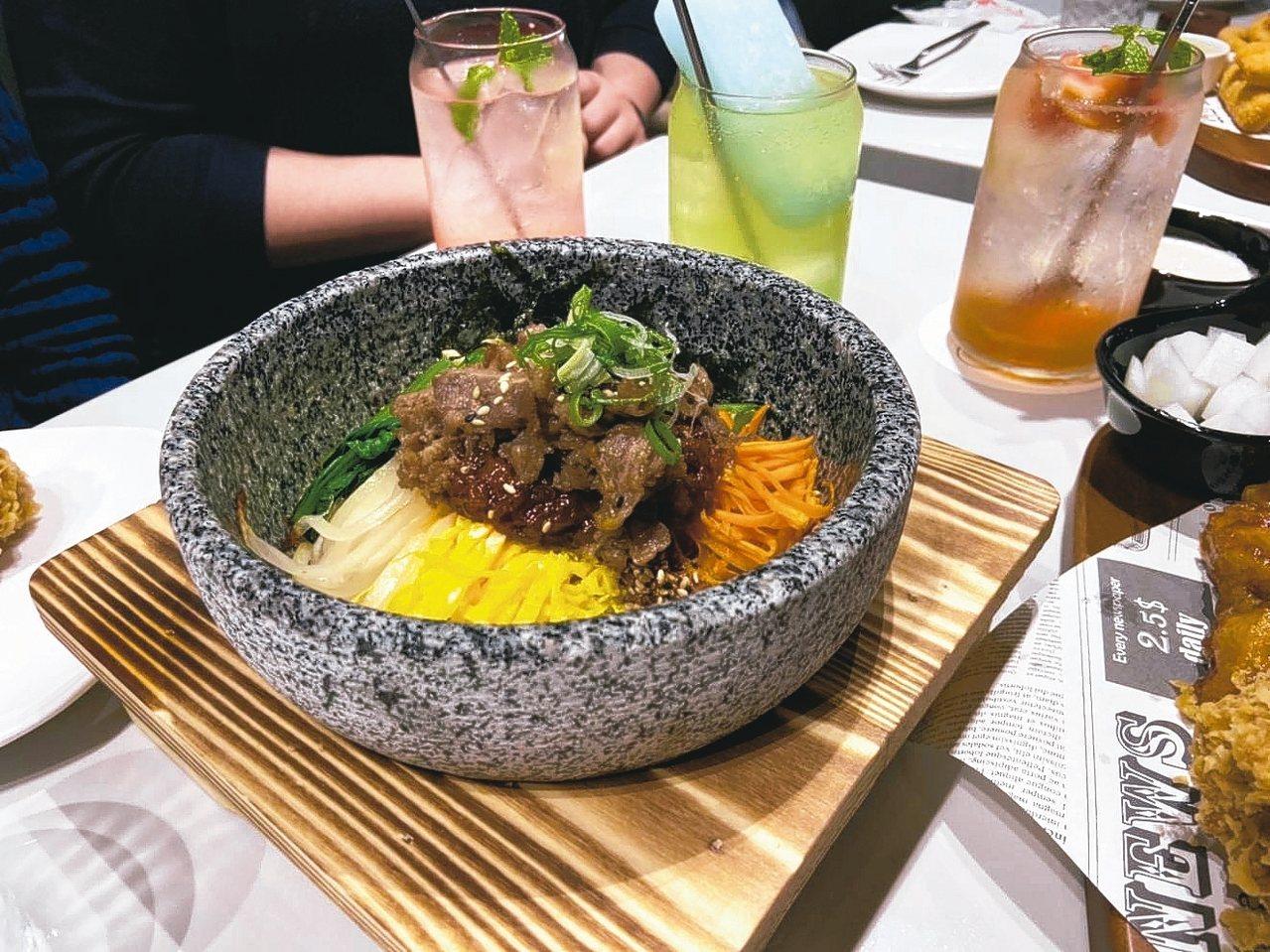韓式烤肉石鍋拌飯。 圖/全家國際餐飲提供