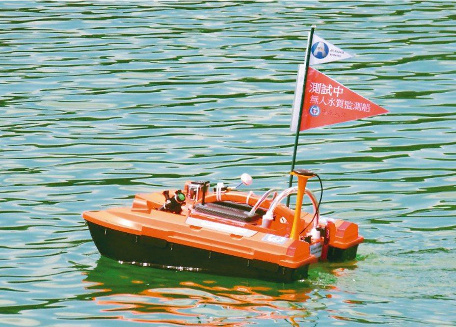 第一代無人船,試驗性質為主。  圖/鎮鑫科技公司提供
