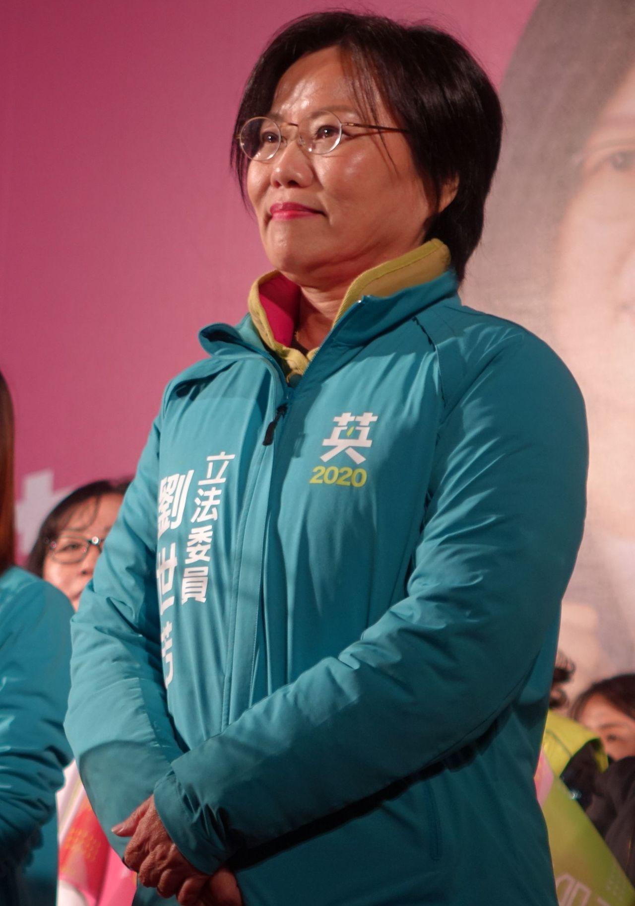 高雄市立委第三選區民進黨立委參選人劉世芳。記者楊濡嘉/攝影