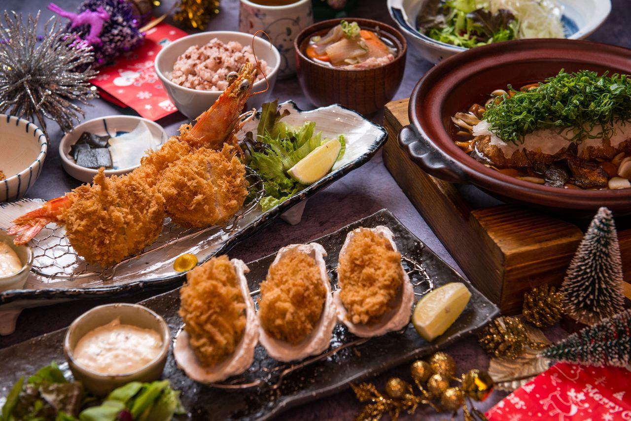 勝勢豬排的聖誕雙人套餐,原價1,310元,優惠1,190元。圖/勝勢豬排提供