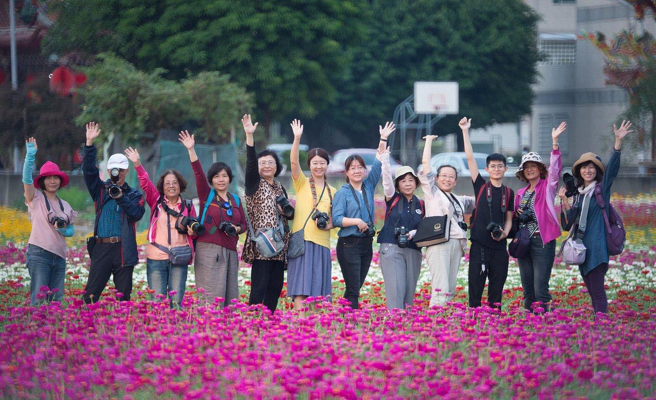 嘉義市花海節一連兩周的周六、日舉辦,今年暖冬少雨,各種花卉已提早綻放,吸引民眾前...