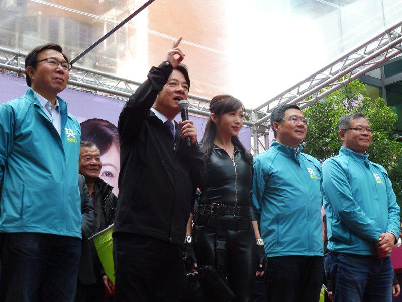 民進黨副總統候選人賴清德今出席許淑華競選總部大會。記者賴于榛/攝影