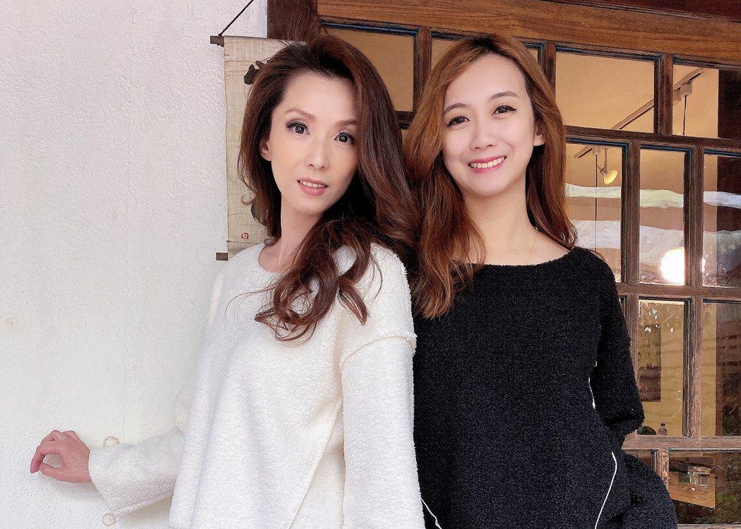 葉全真(左)臭臉當特色,韓國直播被小延使喚。圖/翰成數位直播提供