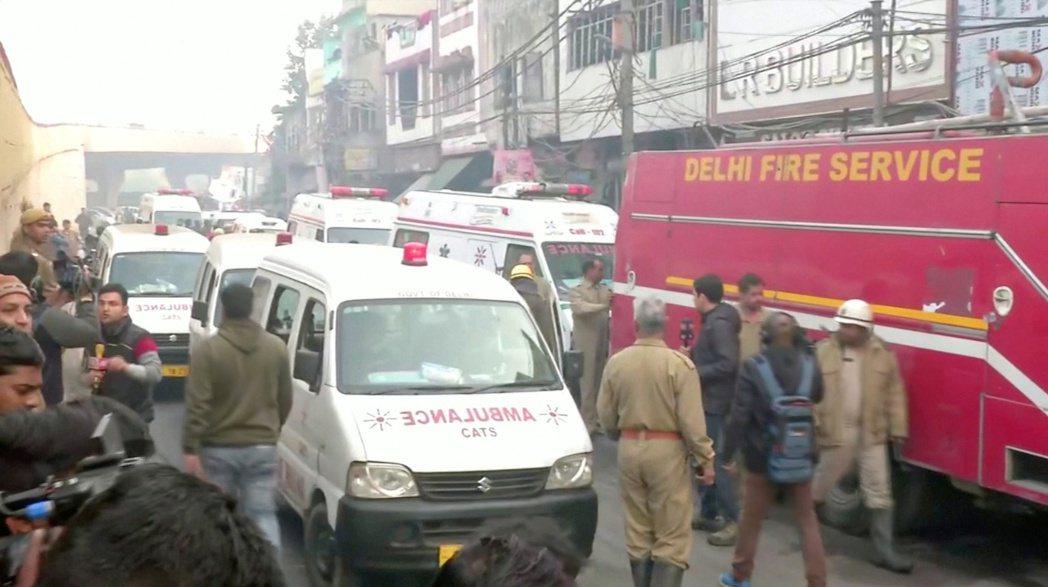 這場惡火造成40多人喪生,而傷者已被送往各家醫院治療。(路透)