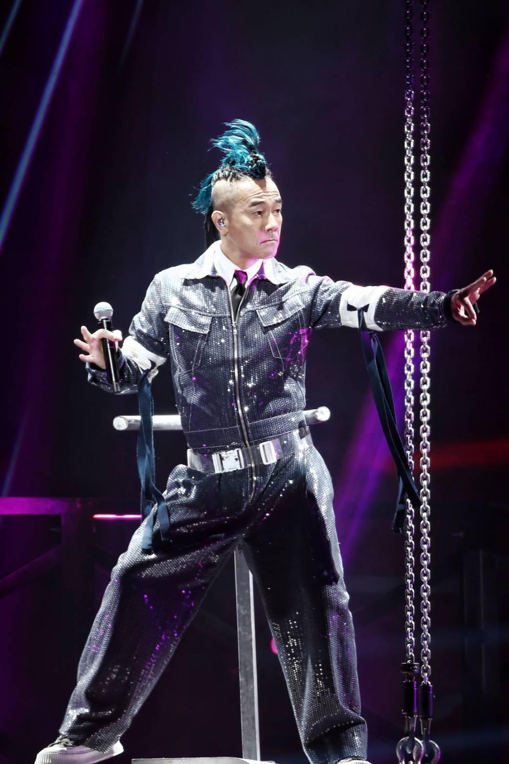 陳小春在林口體育館舉辦「STOP ANGRY」演唱會。圖/報系資料照
