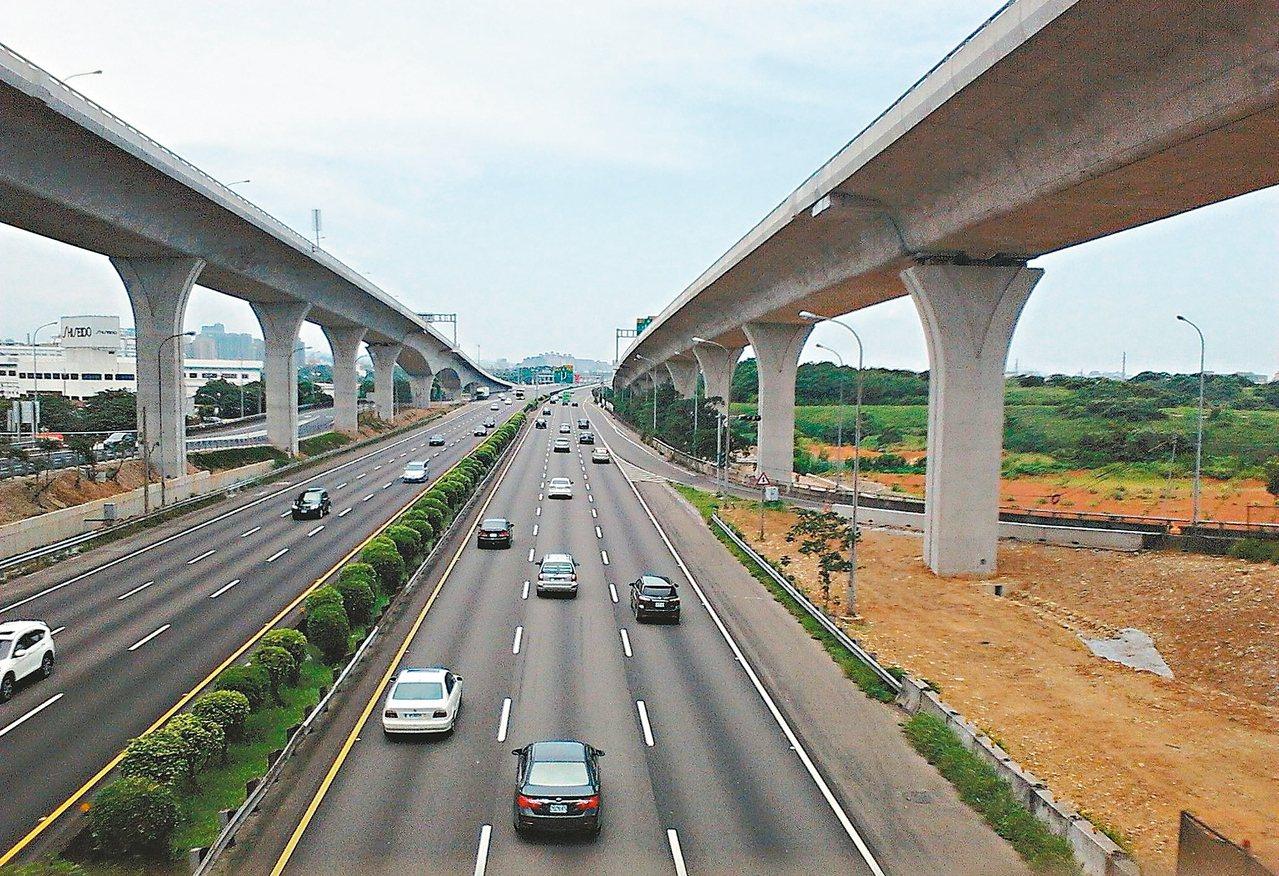 交通部高公局最近完成五楊高架延伸苗栗頭份可行性評估。圖/聯合報系資料照片
