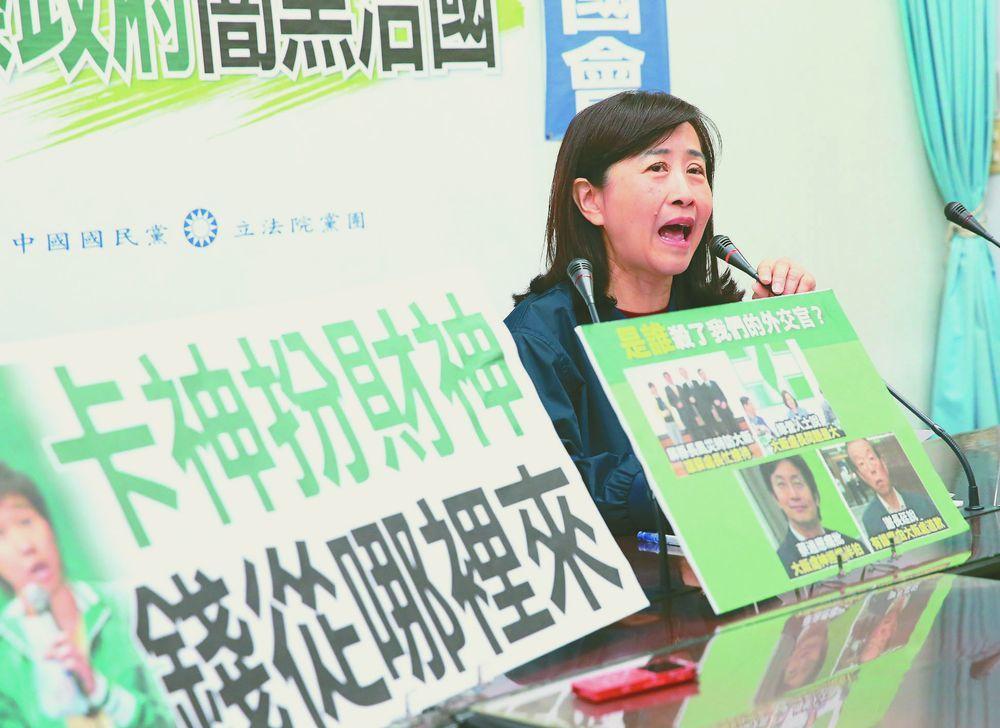 立委林奕華日前質疑楊蕙如「養網軍的金錢來源不單純」。圖/聯合報系資料照片