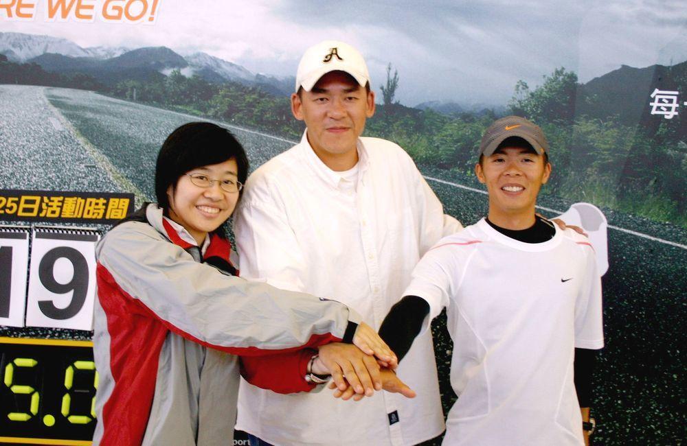 卡神楊蕙如(左)與超馬好手林義傑(右)是好友。圖/聯合報系資料照片