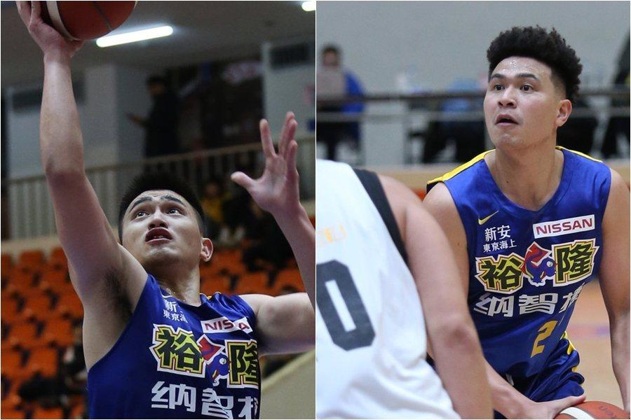 盧冠軒(左)本季加入裕隆隊,和哥哥盧冠良(左)首度同隊。 圖/中華籃協提供
