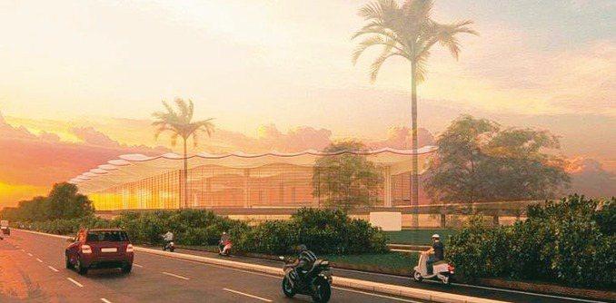 高雄機場未來外觀。 圖/民航局提供