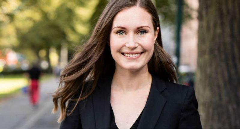 芬蘭即將迎來全球最年輕的總理馬林(Sanna Marin)。圖/取自推特