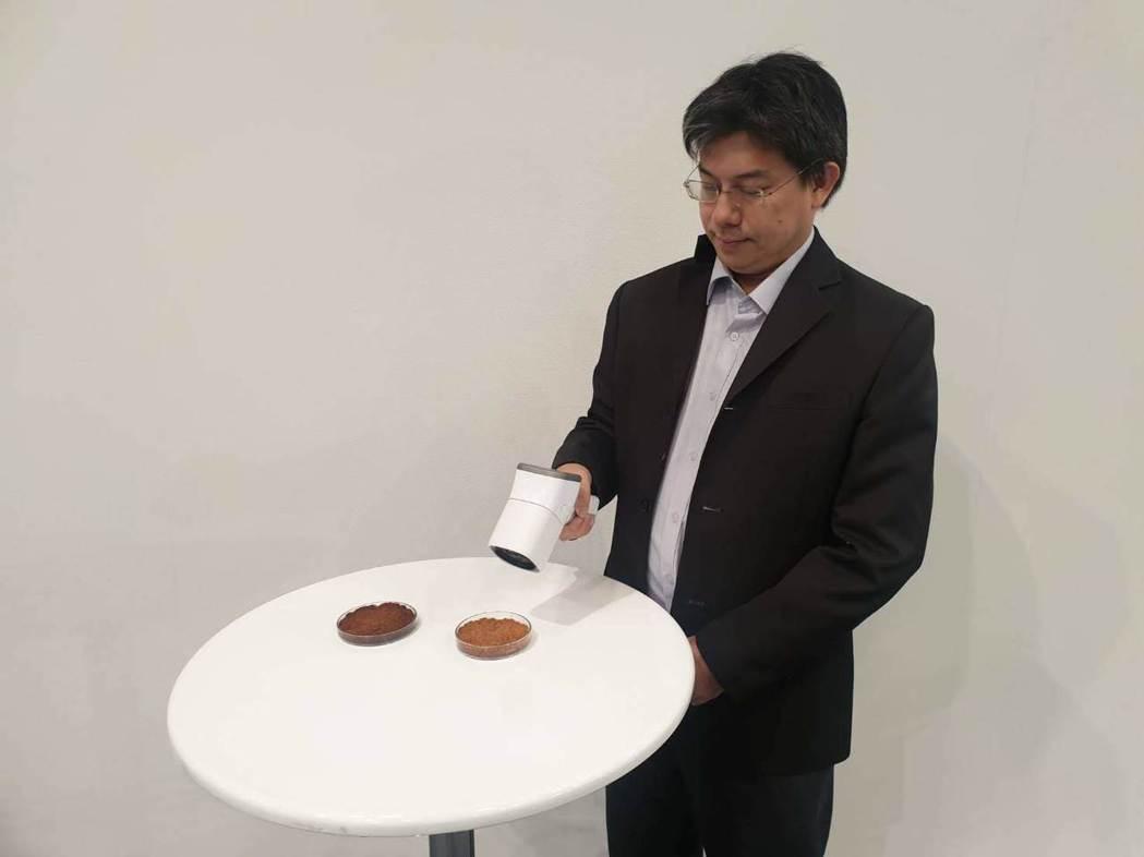 台師大光電所教授謝振傑表示,儀器距離10到70公分以內就能測出肉品的熟成度 中華...