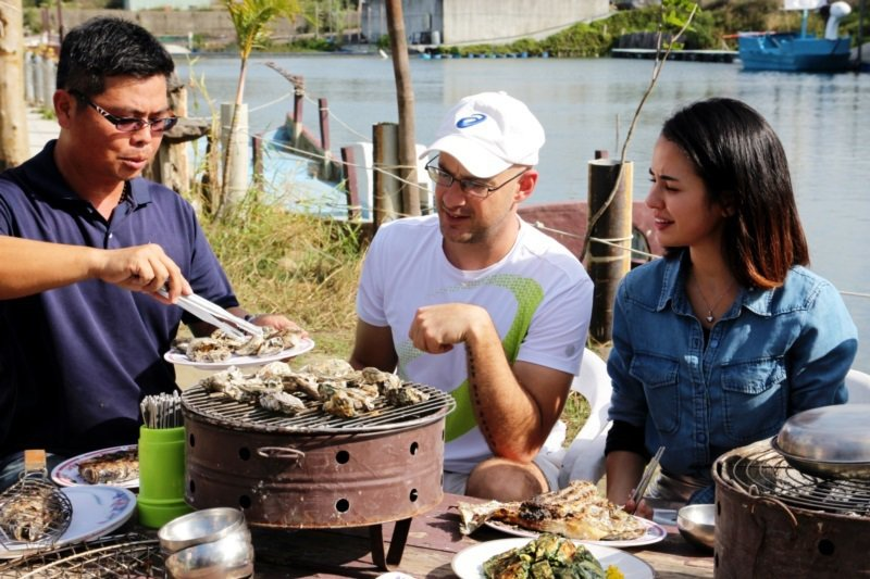 嘉義縣東石鄉向禾休閒漁場。 圖/文化觀光局提供