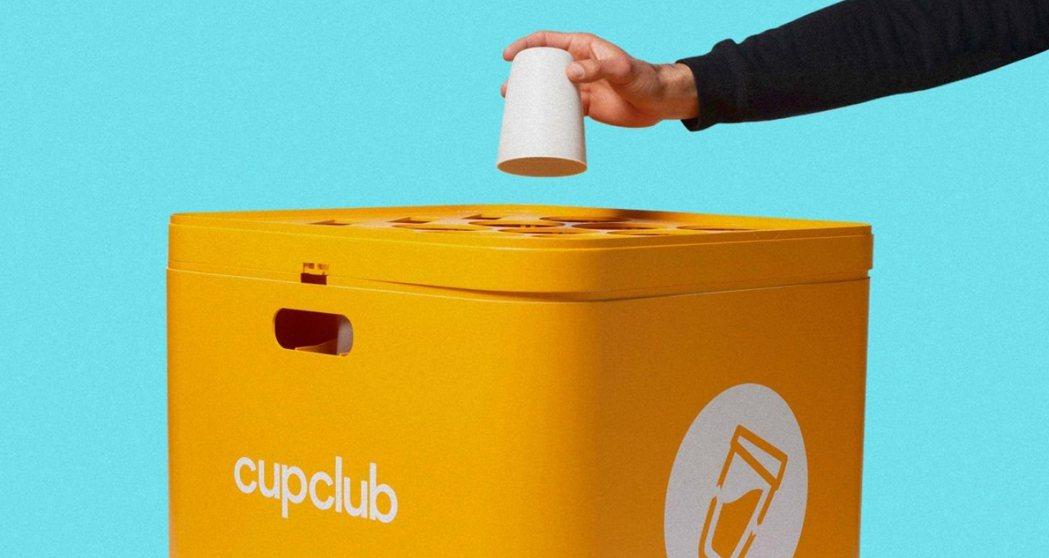 英國設計師打造「容器循環模式」,要讓外帶咖啡也能做到垃圾減量。 圖/摘自CupC...