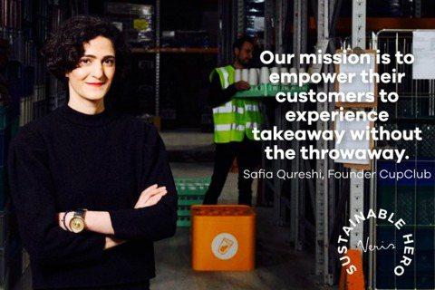 CupClub 創辦人 Safia Qureshi 表示, CupClub 的使...