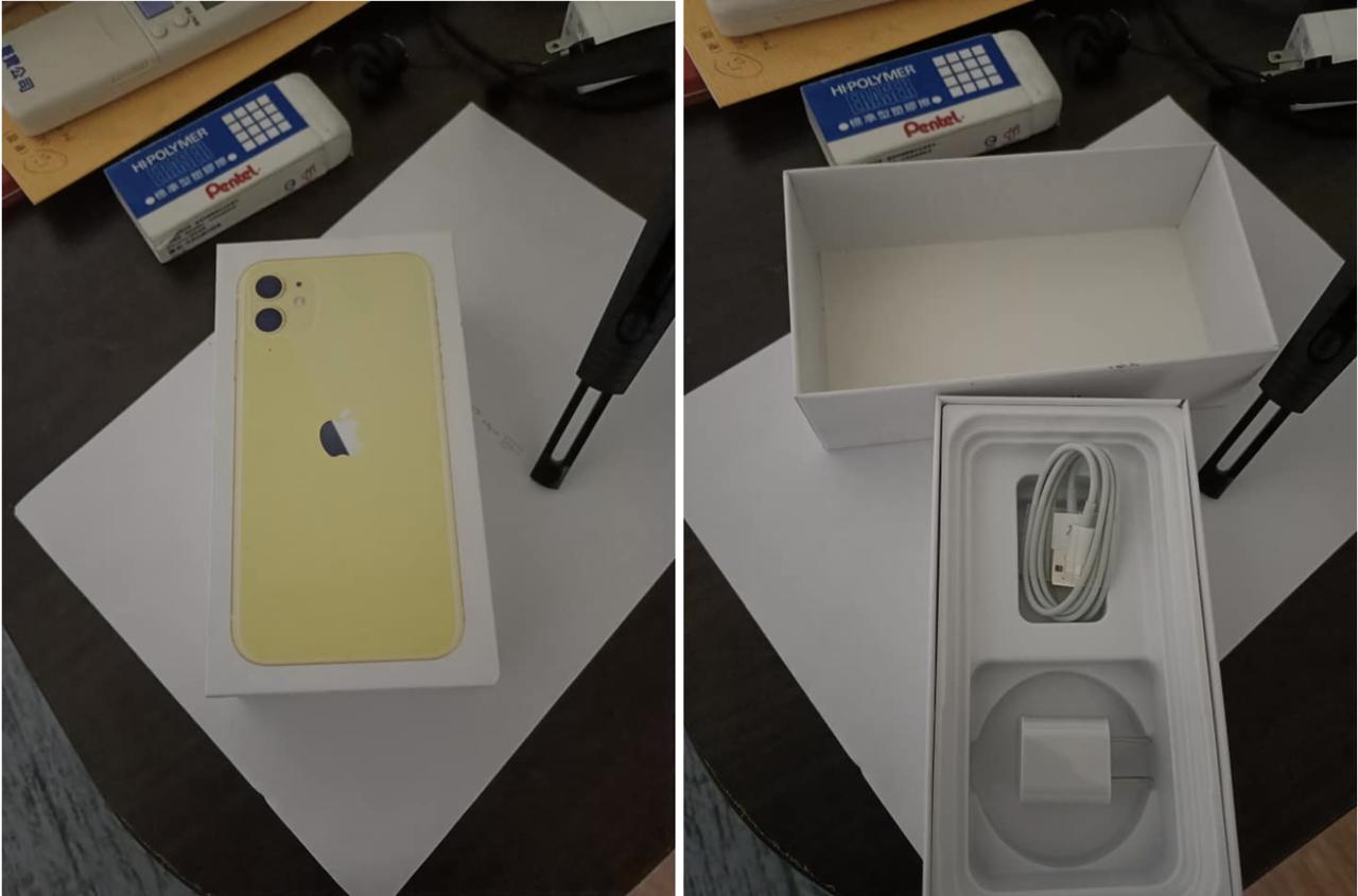 一名網友以為花40元夾到了一台要價2-3萬的iPhone11,不料回家打開盒子後...