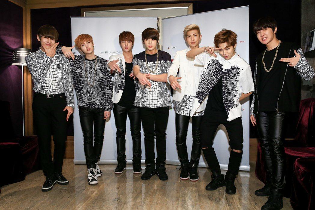 韓國男團BTS防彈少年團。圖/報系資料照(記者林伯東/攝影)