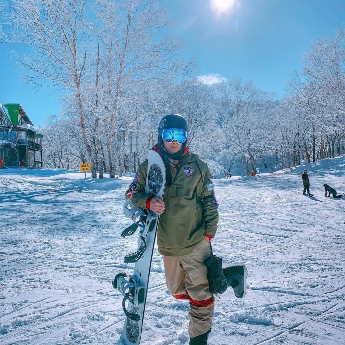 裝備齊全,才不會在滑雪場被凍僵。 圖/IG, yuchung5419