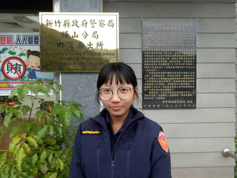 女警陳黎萱,來自高雄桃源區,系出拉阿嚕哇族,外貌酷似卡通英語教學節目內愛探險的Dora,受到當地民眾的喜愛。圖/警方提供