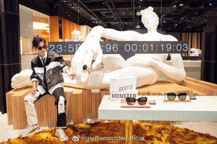 中國男星肖戰現身Gentle Monster旗艦概念店,並演繹2020 MY M...
