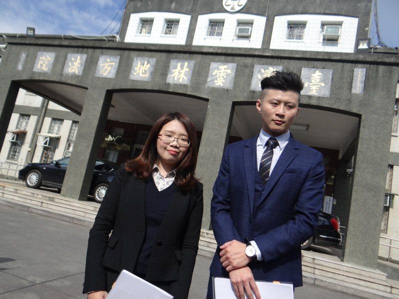 針對砂石案有村長死亡的報導,李佳芬替父親委託律師向雲林地檢署遞狀控告三立公司加重誹謗罪。記者蔡維斌/攝影