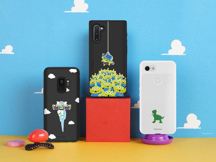 犀牛盾迪士尼授權玩具總動員系列手機殼適用於多款Android、iOS手機。圖/犀...