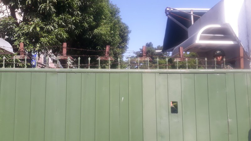 台南榮民之家規畫遷到中山高東側永康複習路旁營區,今天會勘。記者周宗禎/攝影