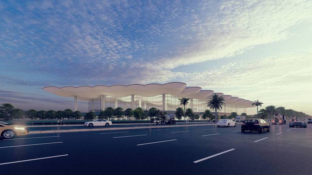 高雄機場未來外觀。圖/民航局提供