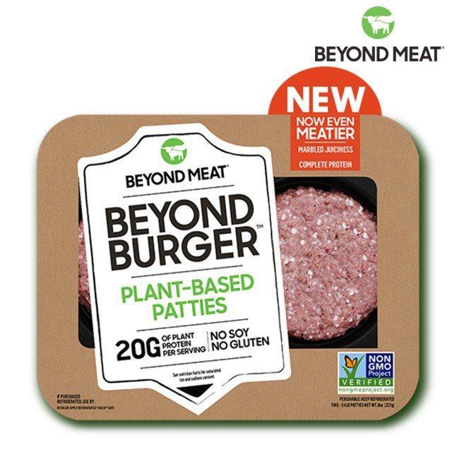 目前於momo購物網銷售的未來漢堡肉,一盒兩片要價550元,價格有點高貴。圖/摘...