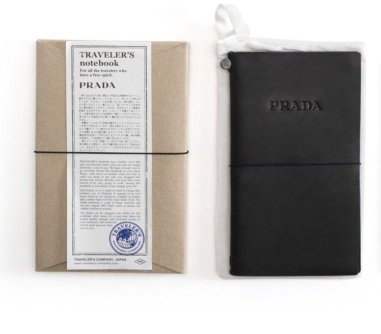 黑色皮革筆記本,3,000元。圖/PRADA提供
