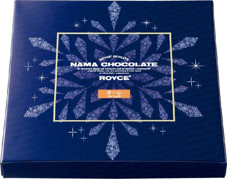 包裝上印有雪花圖樣的冬季限定包裝牛奶口味生巧克力520元。圖/city'supe...
