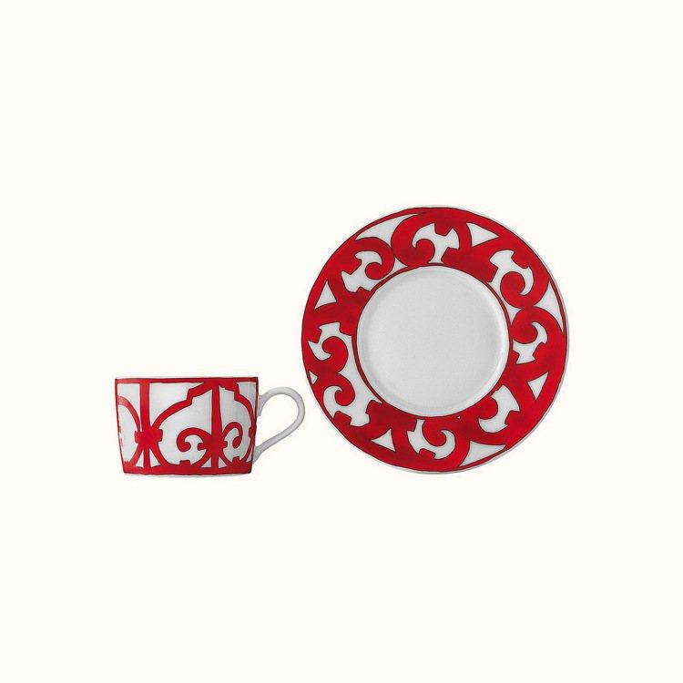 西班牙紅餐瓷系列茶杯組,6,160元。圖/愛馬仕提供