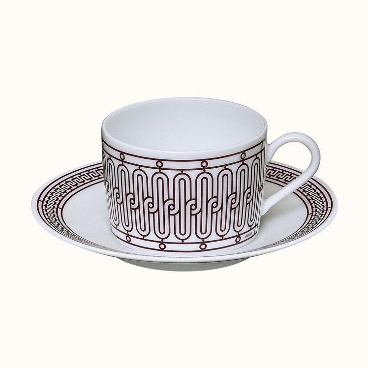H Déco Rouge餐瓷系列茶杯組,5,120元。圖/愛馬仕提供